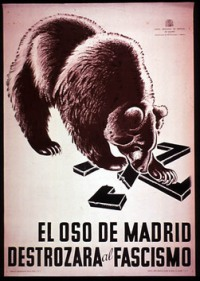 """The Bear of Madrid will destroy Fascism!"""